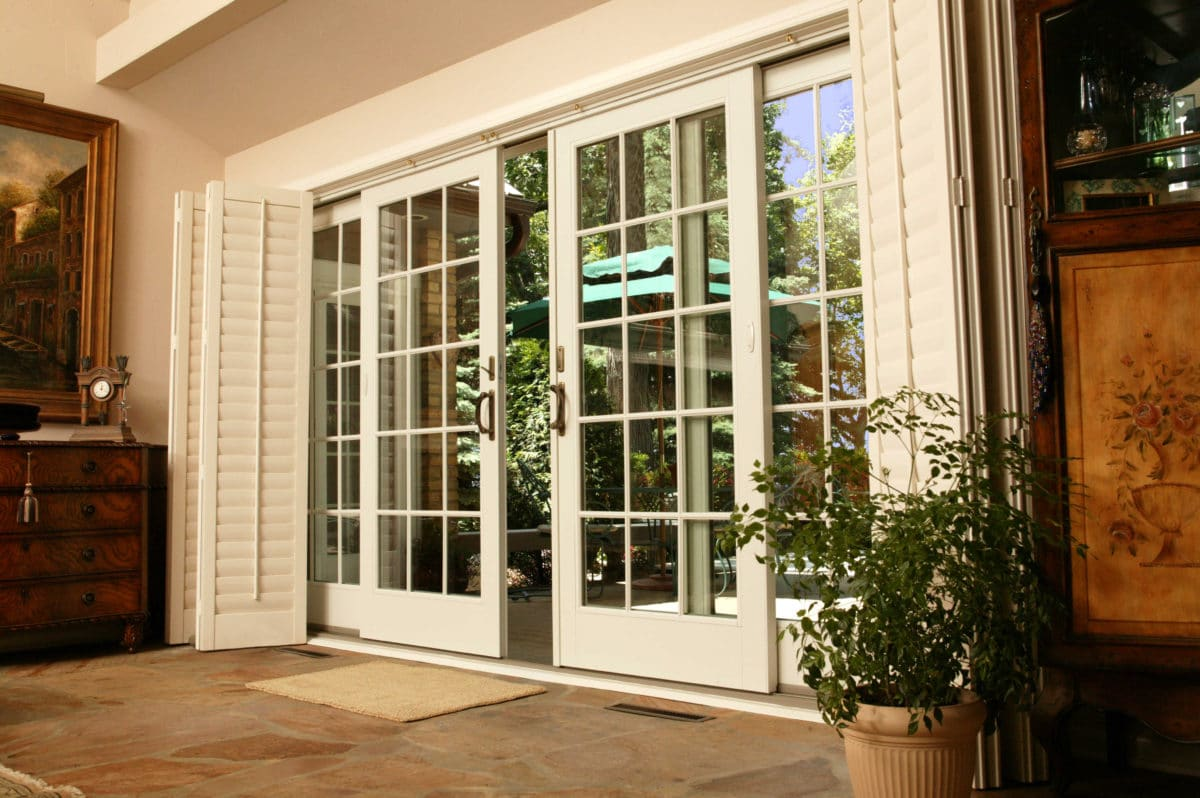 Front doors creative ideas front door repair for Exterior door with sliding window