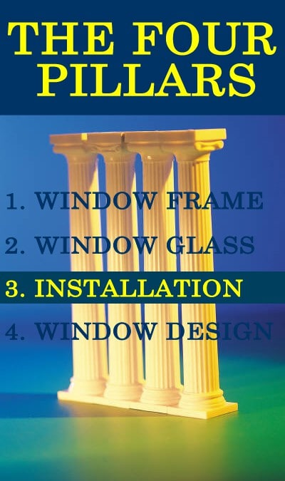Four Pillars of Replacement Windows: Installation
