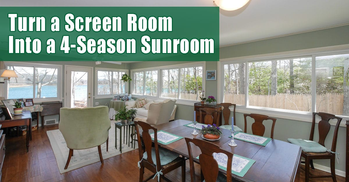 4 season sunroom with windows Long Island, NY